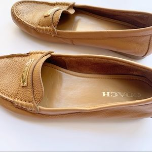 Coach Shoes - Coach Fredrica Tan Leather Loafers Size 9